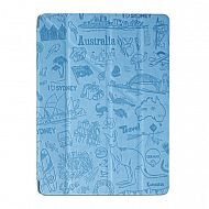 "iPad 2/3/4 - чехол-обложка ""OZAKI"" Sidney Design Smart Stand Leather; Blue"