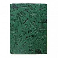 "iPad 2/3/4 - чехол-обложка ""OZAKI"" Rio Brazil Design Smart Stand Leather; Dark Grey"