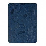 "iPad 2/3/4 - чехол-обложка ""OZAKI"" London Design Smart Stand Leather; Dark Blue"