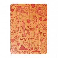 "iPad 2/3/4 - чехол-обложка ""OZAKI"" New York Design Smart Stand Leather; Orange"