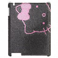 "iPad 2/3/4 - чехол-накладка ""Lovely Hello Kitty Rhinestone"": Pink"
