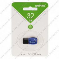 Флеш-накопитель 32Gb SmartBuy USB 2.0 Cobra Dark/Blue