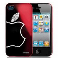 "iPhone 4/4S - чехол-накладка со стразами ""Sparkling Diamond Electroplating"": Wine Red"