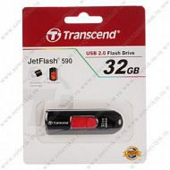 Флеш-накопитель 32Gb Transcend USB 2.0 JetFlash 590 Black