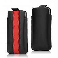 "iPhone 5 - чехол ""Pull-up PU Leather""; Black/Red"